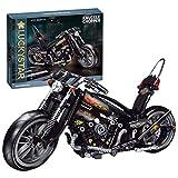 YUGE Bloques de construcción para motocicleta, 451 piezas, piezas estáticas para motocicleta, juguete compatible con la técnica Lego