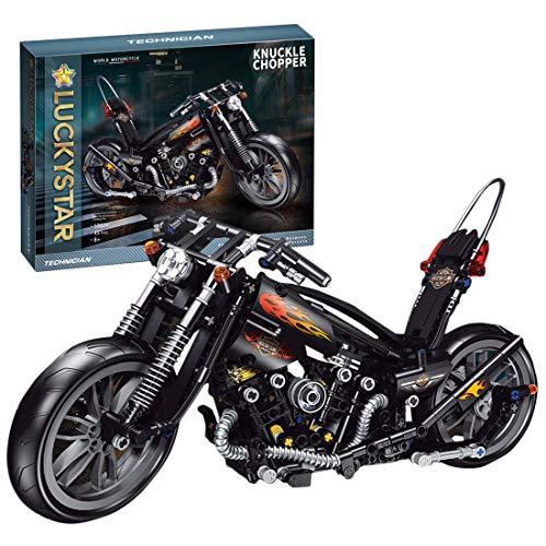 Kepae Tech - Juguete de construcción para motocicleta, 451 piezas de ladrillos estáticos para ciudad, compatible con Lego Technic