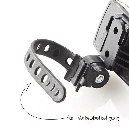 Fischer Erwachsene Front Vorbaubefestigung Reflektor, schwarz, One Size - 3