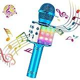 ♪ ♪【FUNCIO 4 EN 1 DE】Se puede utilizar como micrófono inalámbrico y altavoz Bluetooth. reproductor de música y grabación de voz / instrumentos. Le permite cantar su voz en casa, KTV, fiesta al aire libre en cualquier lugar y en cualquier momento con ...