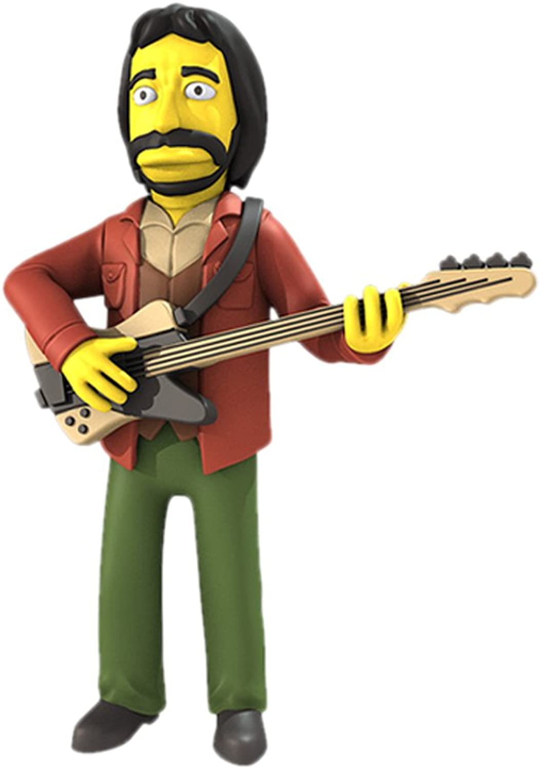 NECA The Simpsons 25th Anniversary  John Entwistle (The Who) 5  Collectible Action Figure Series 2