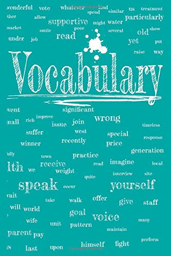 Vocabulary: Notebook: 60 pages, 3 columns, lined, in a modern design, 6x9 inches (15.2 x 22.9cm; slightly larger than A5 format). Softcover.