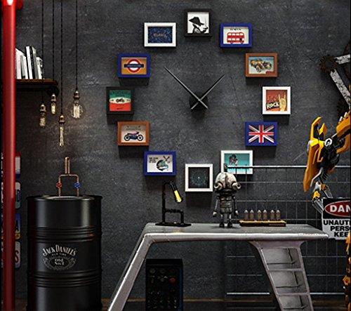 Frame Photo muur Bar Woonkamer Photo Muur Grote Wandklok Creatieve Combinatie Foto Opknoping Muur Industriële Stijl Decoratieve Foto Muur Modieus ontwerp