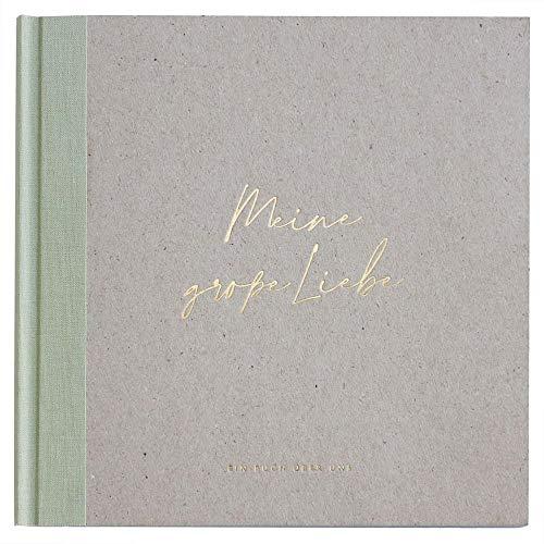 """JO & JUDY Erinnerungsbuch""""Meine große Liebe"""" - Erinnerungsalbum mit über 50 Seiten zum Ausfüllen und zum Einkleben von Fotos - Maße 19 cm x 19 cm"""