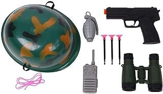 子供のふりプレイおもちゃ ロールプレイコスプレ玩具セット 警察 エンジニア 消防士 屋内屋外ゲーム 幼児玩具 贈り物(迷彩)