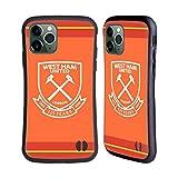 Head Case Designs Licenciado Oficialmente West Ham United FC Portero Away 2020/21 Kit de Cresta Carcasa híbrida Compatible con Apple iPhone 11 Pro