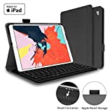 Mangotek iPad Pro Keyboard Case, 10.5 inch iPad Pro Air Wireless Smart Connector Keyboard. Slim Combo Lightweight Folio PU Leather Cover for iPad Pro Air (2019) 10.5'