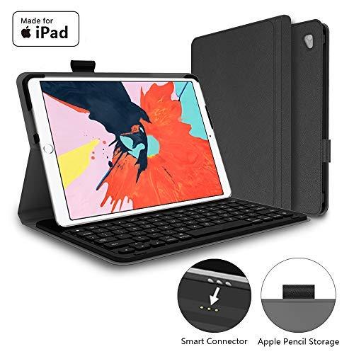 "Mangotek iPad Pro Keyboard Case, 10.5 inch iPad Pro Air Wireless Smart Connector Keyboard. Slim Combo Lightweight Folio PU Leather Cover for iPad Pro Air (2019) 10.5"""