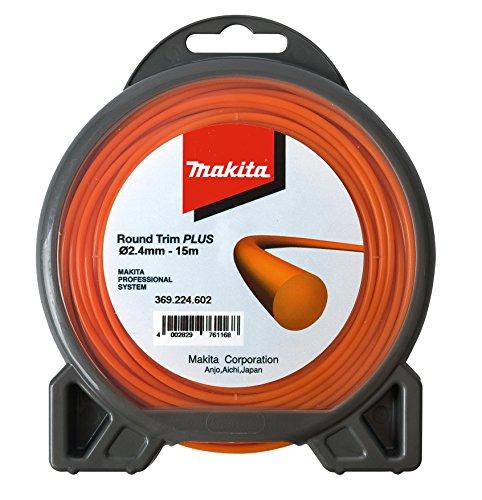 Makita 369224602 Nylon LINE RND Trim Plus 2.4MMX15M, Orange