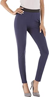 BodiLove Women's Ankle Length Performance Dress Pants with Side Zipper