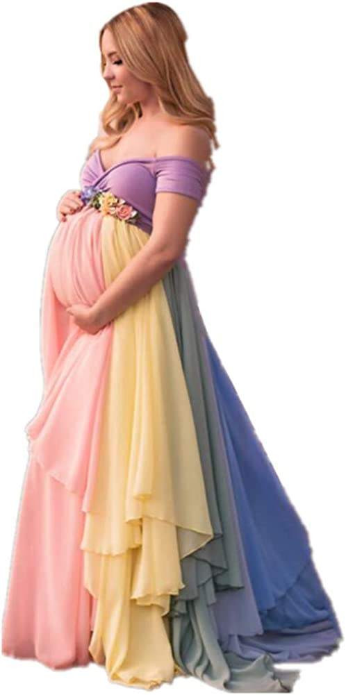 Formaldresses Rainbow Maternity Evening Dress Pre High for Waist 67% OFF of fixed price Challenge the lowest price of Japan