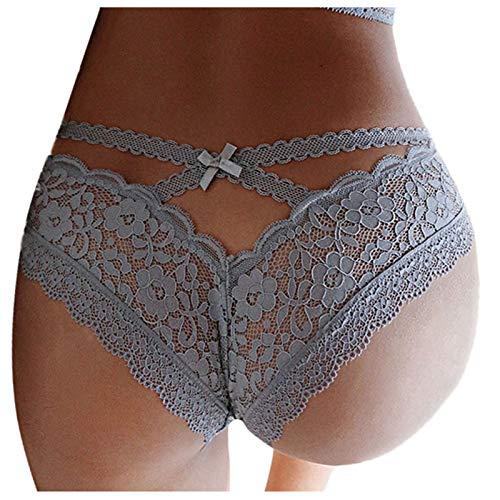 BIBOKAOKE Unterwäsche Damen Höschen Sexy Spitze Hipster Slip Weich Frauen Reizwäsche Atmungsaktiv Panties G-Strings Tangas Reizwäsche Erotic Nachtwäsche Pantys
