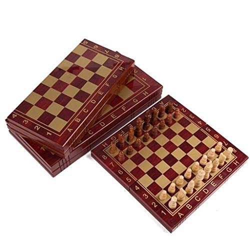 Yxxc Juego de ajedrez Ajedrez de Madera Ajedrez portátil Ajedrez Setard Juego de ajedrez Internacional para Fiestas Actividades Familiares Volver