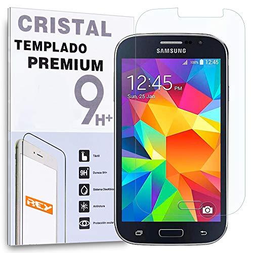 REY Protector de Pantalla para Samsung Galaxy Grand Neo Plus Cristal Vidrio...