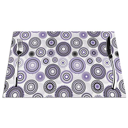 placemat Sets 1 Big and Small with Non-Slip and Washable,Ecological,Ideal for The Kitchen Resistant Table Placemats