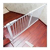 ベビーゲート ベビーゲート子供安全ゲート赤ちゃんト ペット隔離フェンス犬フェンス手すり 寝室無料パンチング階段ペットフェンスドア 突っ張り式 階段の下部にあるガードレールペットドア (Color : White, Size : 87-95cm)
