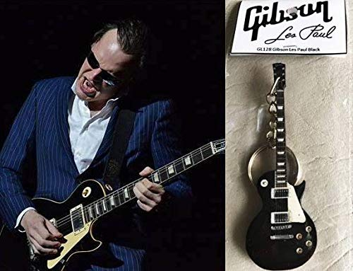 Gibson Les Paul Schlüsselanhänger Gitarre Ebenholz Schwarz