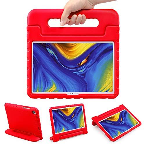 LEADSTAR Funda para Samsung Galaxy Tab A7 10.4-Inch 2020, Ligero y Super Protective Antichoque Estuche Protector Diseñar Especialmente Manija Caso con Soporte para los Niños SM-T500 T505 T507, Rojo