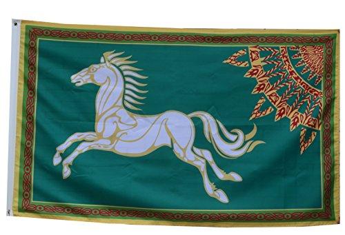 flylong HDR Rohan-Flagge Banner 3x 5Fuß grün