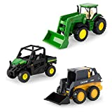 ERTL 3' Iron 3 Pack of John Deere Die-Cast Replicas - Tractor, Gator and Skid Steer Toys
