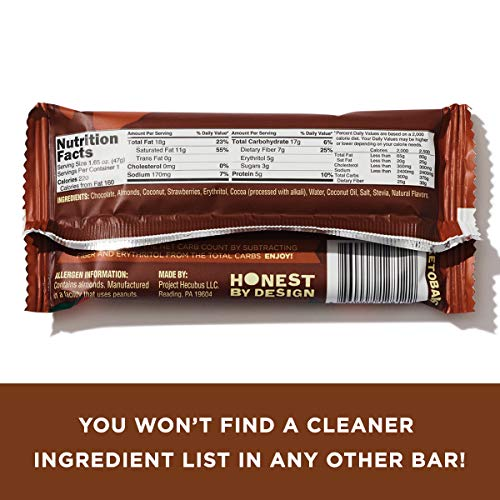 Keto Bars The Original Keto Snack Bar, Gourmet Simple Ingredients Low Carb, No Sugar, Rich in Ketogenic Fats, The Perfect KetoBars Snacks for Keto Diet Food Products (10 Pack, 1.65 ounce) 5