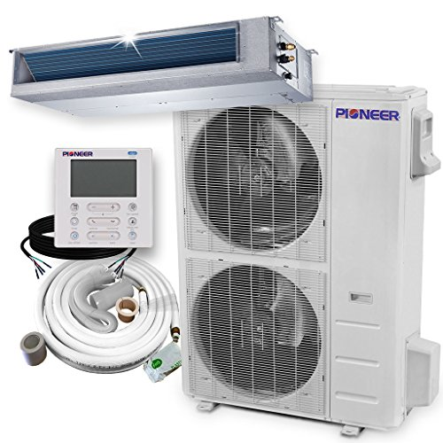 Pioneer RYB048GMFILCBD Ceiling Concealed Ducted Mini-Split Air Conditioner and Heat Pump System Full Set