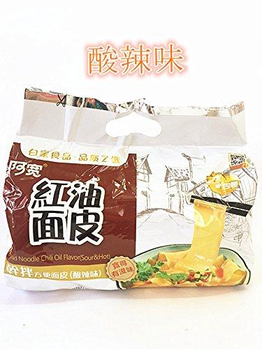 中華インスタントラーメン 白家紅油面皮 鋪盖面 酸辣味 方便面皮 420g