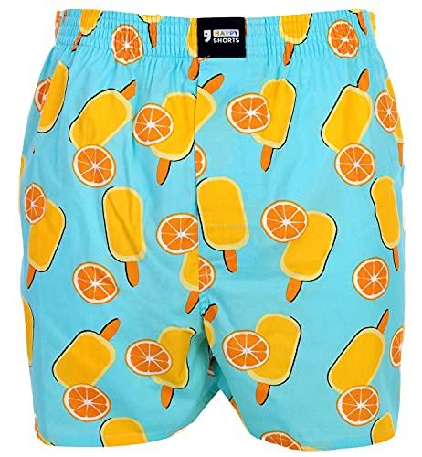 Happy Shorts Webboxer Herren Boxer Motiv Boxershorts Farbwahl, Grösse:M, Präzise Farbe:Design 4