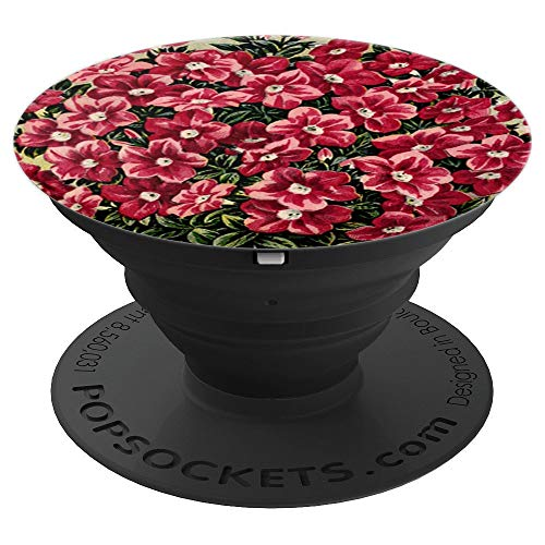 Cute Vintage Pink Petunias Flowers Watercolor Floral Gift PopSockets Grip and Stand for Phones and Tablets