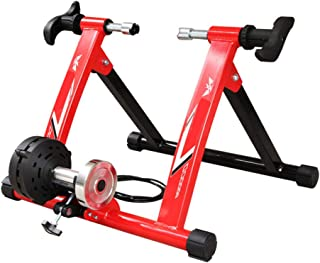 Jeterndy Bike Trainer, Wire-Controlled Indoor Mountain Road Training Platform Turbo Trainer,Variable Resistance Indoor Bike Trainer for Mountain Bicycles Turbo Trainer (Color : Red, Size : 26-28')