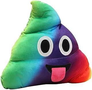 Federa di Natale, Scpink Liquidazione! Divertente Emoji Emoticon Cuscino Cuore Occhi Poo Forma Cuscino Bambola Giocattolo ...