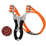 Metal Slingshot Professional Hunting Slingshot, High Velocity Catapult, Fun and Outdoor Games
