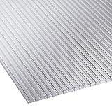 Polycarbonat Universal Stegplatten für Gewächshäuser klar 1500 x 610 x 4 mm