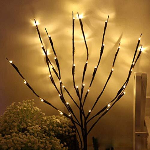 Knowooh LED Zweig Lichter Pflanze Dekozweige Weidenzweige Dekozweige Lampe Batteriebetrieben Dekorative Lichter Für Home Room Decor(Warmweiß)