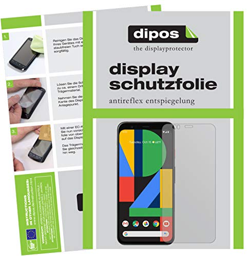 dipos I 6X Schutzfolie matt kompatibel mit Google Pixel 4 XL Folie Bildschirmschutzfolie (bewusst Kleiner als das Glas, da Dieses gewölbt ist)