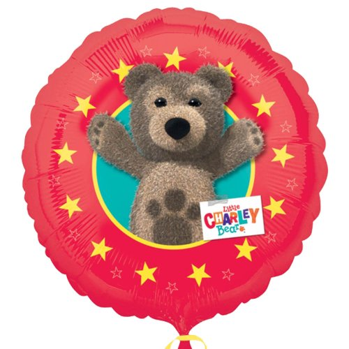 Ballon aluminium rouge Little Charley Bear - 46cm