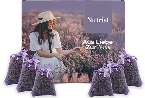 nutrist 10x Lavendelsäckchen - Duftsäckchen Kleiderschrank | Lavendel Duftsäckchen zum Einschlafen | Mottenschutz für Kleiderschrank | Erfrischender Duft für Ihre Wäsche | Lavendel getrocknet