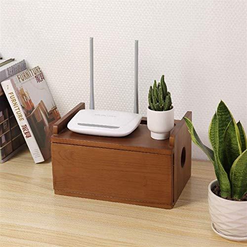 WYL Floating Shelf Wall Floating TV Gabinete Conjunto Caja de enrutador enrutador Box Estante de almacenamiento Alambre de alambre Caja de acabado Unidad for enrutadores Remotes TV Soporte WiFi Router