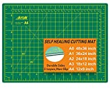 ArtAt Self Healing Cutting Mat: 9'x12' Non-Slip PVC Double Sided 5-Ply A4 Art Craft Rotating Mat, Rotary Cutting Mat for Quilting, Sewing Crafts Hobby Fabric Precision Scrapbooking Project