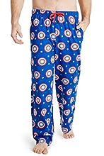 Marvel Pijama Hombre, Pantalon Pijama Hombre con Escudo Capitan America, Ropa Hombre 100% Algodon, Merchandising Oficial Regalos para Hombre Talla S-3XL (Azul, 3XL)