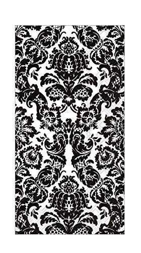 Boston International Black and White Bathroom Decor Paper Hand Towels Guest Towels Disposable Pak 32