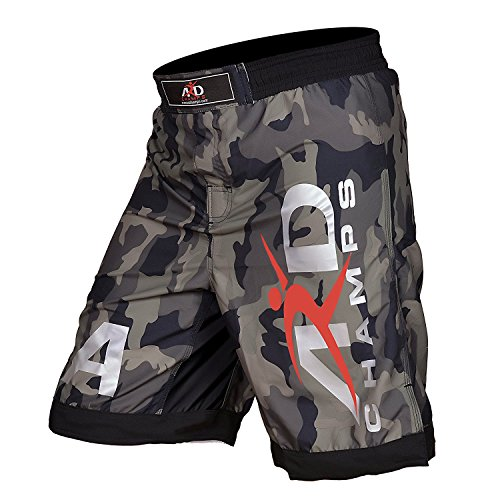 ARD Camo Pro MMA Fight Shorts Camouflage UFC Cage Fight Grappling (Medium(32-34'))
