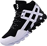 JOOMRA Men's Fashion Sneakers for Walking Jogging Gym Lace up Mid High...