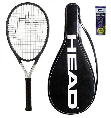 Head Ti S6 Tennisschläger + 3 Slazenger Tennisbälle und Hülle, L4