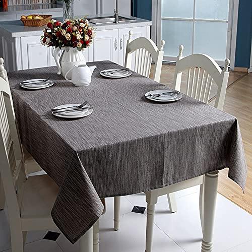 Mantel de Lino de algodón Decorativo sólido con Borla japonés Grueso Rectangular Boda Cubierta de Mesa de Comedor Mantel de té R140x180cm