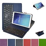 Samsung Galaxy Tab E 9.6 Bluetooth Tastiera Custodia,Mama Mouth Staccabile Bluetooth Tastiera (layout inglese) custodia in PU di cuoio pelle caso Case per 9.6' Samsung Galaxy Tab E 9.6 T560 T561 Android Tablet,blu