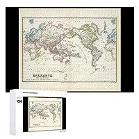 INOV 古さ 疲れた世界地図 ジグソーパズル 木製パズル 1000ピース インテリア 集中力 75cm*50cm 楽しい ギフト プレゼント