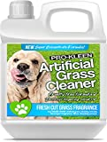 Pro-Kleen Artificial Grass Cleaner for Dogs and Pet Friendly Cruelty Free Disinfectant with Deodoriser 4 in 1 (10:1 Super Concentrate Makes 10 Litres) (Fresh Cut Grass, 1L)