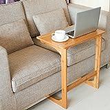 Homfa Mesa para sofá Mesa Auxiliar Mesa de bambú para Ordenador Mesa de café Mesa de Escritorio Mesa para Ordenador (Bambú Natural)