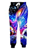 RAISEVERN Unisex Jogger Pants 3D Colorful Planet Galaxy Sweatpants Sportswear Gym Trousers with...